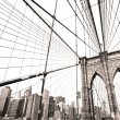 ponte di Manhattan, new york city. Stati Uniti d'America — Foto Stock