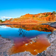 Small mineral lake in Rio Marina, Elba Island, Italy. — Stock Photo