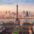 Paris at sunset - Stock Photo
