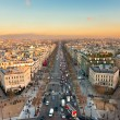 Stock Photo: View from Arc de triomphe of Champs elysees, Paris