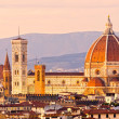 Florence, view of Duomo and Giotto bell tower — Stock Photo