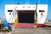 Yolcu gemisi piombino harbour, toskana, i̇talya. — Stok fotoğraf