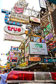 BANGKOK - DECEMBER 18: Khao San Road is a short street located — Stock Photo