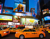 NEW YORK CITY -MARCH 25: Times Square, featured with Broadway Th — Foto Stock