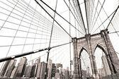 Manhattan bridge, new york city. verenigde staten. — Stockfoto