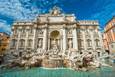The Famous Trevi Fountain , rome, Italy. — Foto de Stock