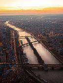Paryż na zachodzie słońca — Zdjęcie stockowe