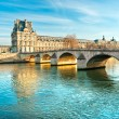 Louvre Museum and Pont du Carousel, Paris - France — Stock Photo