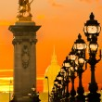 Les Invalides and Alexandre III bridge, Paris - France — Stock Photo