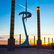 BARCELONA, SPAIN - DECEMBER 15: Montjuic Communications Tower on — Stock Photo