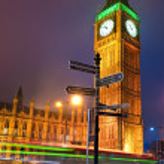 el big ben en la noche, Londres, Reino Unido — Foto de Stock   #20301769
