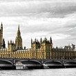 The Big Ben, the House of Parliament and the Westminster Bridge, — Stock Photo #20302043