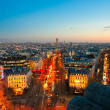 View from Arc de triomphe, Paris with Eiffel tower — Stock Photo #20302459