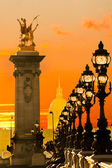 Les Invalides and Alexandre III bridge, Paris - France — Stock Photo