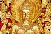 Bouddha sculpture à l'intérieur d'un temple, luang prabang, laos. — Photo