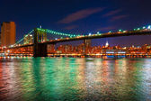 Brooklyn bridge, New York City. — Stock Photo