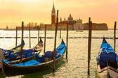 Venetië, weergave van san giorgio maggiore van san marco. — Stockfoto