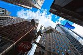 Broadway's skyscrapers in Lower Manhattan, New York City — Stock Photo
