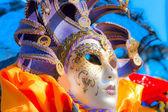 Venetië - 05 maart: deelnemer in het carnaval van venetië, een ann — Stockfoto