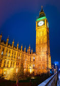 The Big Ben and the House of Parliament at night, London, UK. — Foto de Stock