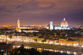 Florence at night, Italy. — Stock Photo