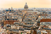 View of Paris with the Pantheon at sunset, France. — Stock Photo