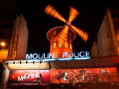 PARIS - DECEMBER 10: The Moulin Rouge by night, on December 10, — Stock Photo