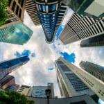 Singapore city skyline. — Stock Photo