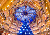 The Christmas tree at Galeries Lafayette — Stock Photo