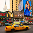 NEW YORK CITY -MARCH 25. Times Square, featured with Broadway heaters and animated LED signs — Stock Photo