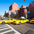 NEW YORK - MARCH 21. Taxicabs between the 7th Av. and 23th st. — Stock Photo