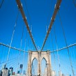 Brooklyn bridge, New York City. USA. — Stock Photo