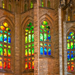 BARCELONA, SPAIN - DECEMBER 14. Colorful window of La Sagrada Familia — Stock Photo