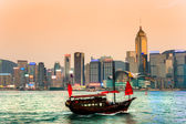 HONG KONG - MARCH 15. Victoria Harbor on March 15, 2013 in Hong — Stock Photo