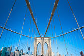 Brooklyn bridge, New York City. USA. — Stock fotografie