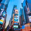 Times Square, featured with Broadway Theaters and animated LED signs — Stock Photo