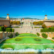 Stock Photo: View of Barcellonfrom Montjuic, Spain