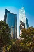 香港の有名な摩天楼と hpong 香港公園、中国. — ストック写真