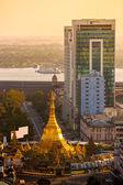 Sule Paya, Yangoon, Myanmar. — Stock Photo