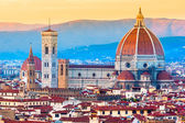 Panoramic view from Piazzale Michelangelo in Florence - Italy — Stock Photo