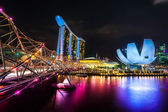 View of the Marina Bay Sands, Singapore — Fotografia Stock
