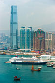 Panoramic view of Hong Kong skyline. China. — Stockfoto