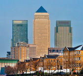 Canary Wharf, London, UK — Stock Photo