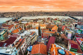 Istanbul view from Galata tower, Istanbul, Turkey. — Stock Photo