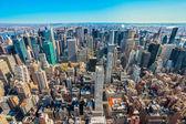 Aerial view of Manhattan, New York City. USA. — Stockfoto