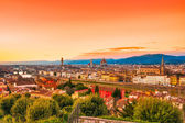 Florence, sunset skyline view. — Stock Photo