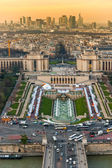 Aerial view of Paris at night, France. — Stock Photo