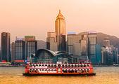 Panoramic view of Hong Kong skyline. China. — Stock Photo