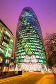 The modern glass offices of the Swiss Re Gherkin — Stock Photo