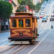 Stock Photo: SAN FRANCISCO, US- DECEMBER 16: Passengers enjoy ride in c